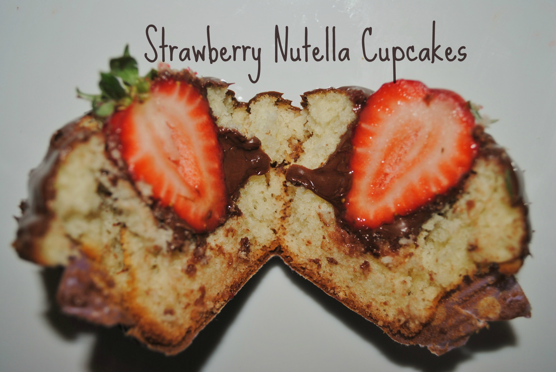 Strawberry Nutella Cupcakes | Sweets Eats and Crafts
